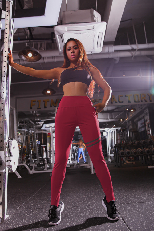 High quality waisted pants elastic for all fitness types