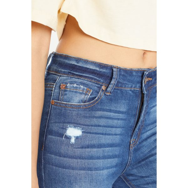 Distressed Jeans women's High Waisted