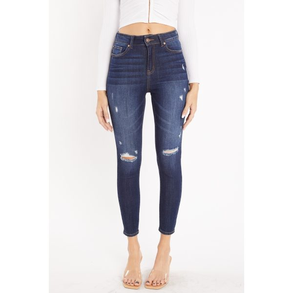High Rise Ankle Skinny Jeans